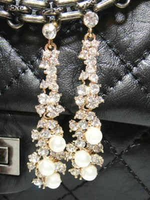 Attractive Alloy With Rhinestone Earrings
