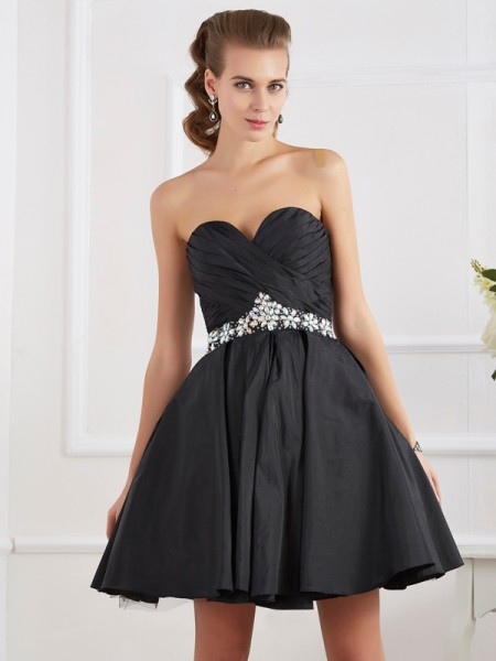 A Line Princess Mini Sweetheart homecoming Gown