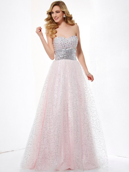 Ball Gown Sweetheart Satin Floor Length Evening Wear