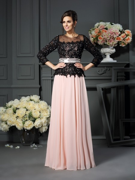 A-Line Sweetheart Floor-Length Chiffon Mother of the Bride Gown