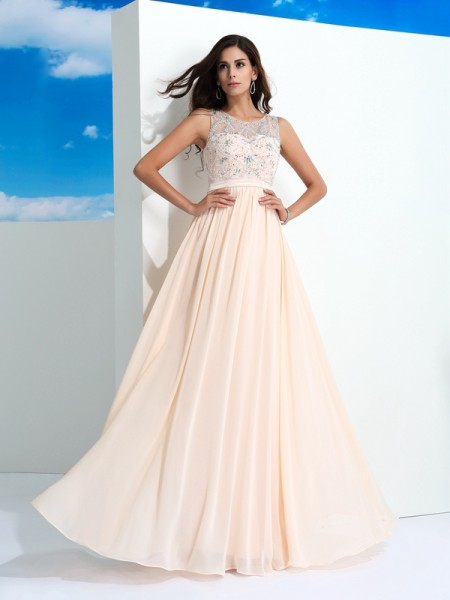 Sheath Scoop Beading Chiffon Sweep/Brush Train Two Piece Gown