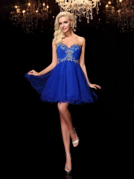 Princess Sweetheart Rhinestone Short Net Dress