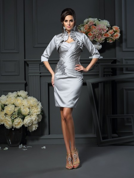 Elegant Satin Half Sleeves Special Occasion Wrap
