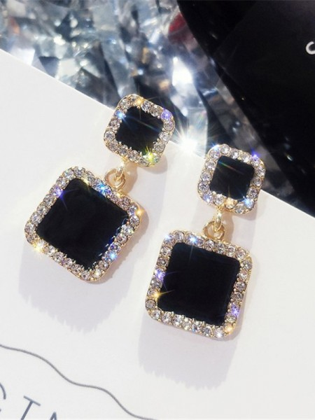 Beautiful Square Rhinestone Hot Sale Earrings