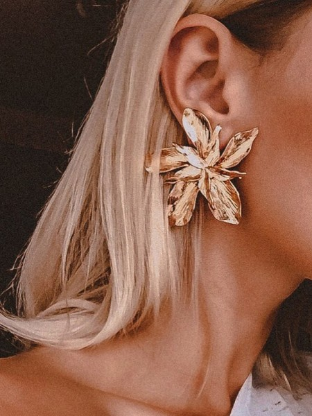 Unique Floral Metal Hot Sale Earrings