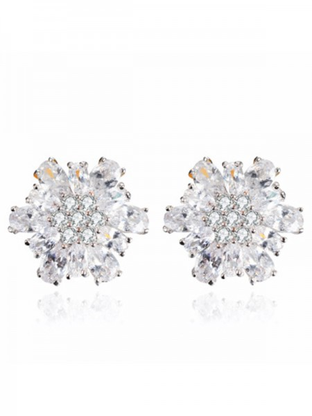 New Alloy With Zircon Earrings