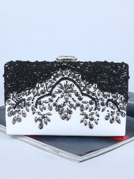 Graceful Rhinestone Party Handbags