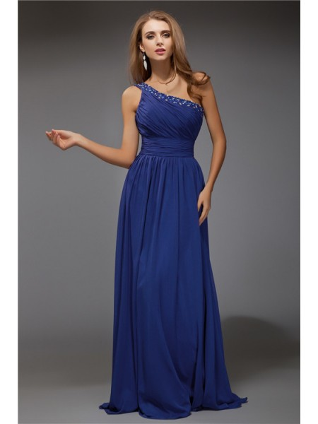 Fantastic Sheath/Column One-Shoulder Chiffon Dress