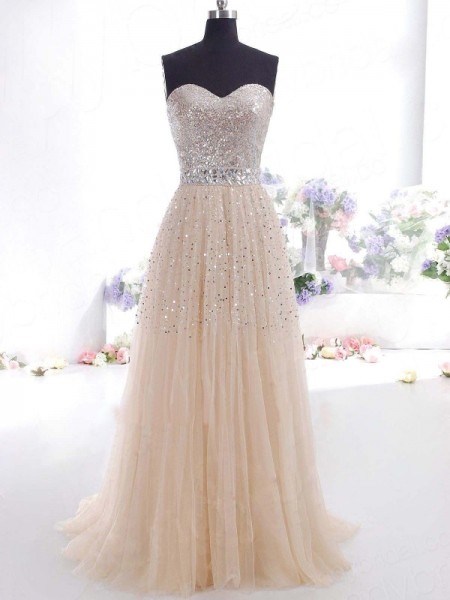 A-line/Princess Spaghetti Straps Sleeveless Hand-Made Flower Tea-length Tulle Dress
