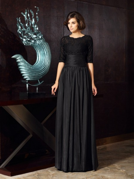 A-Line Sweetheart Taffeta Applique Floor-Length Mother of the Groom Dress