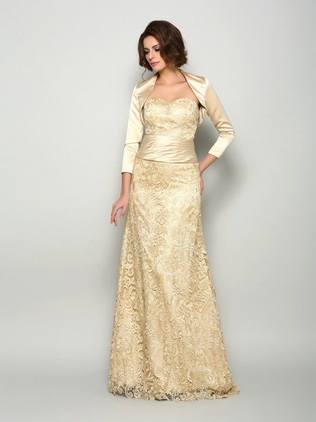 A-Line Satin Floor-Length Sweetheart Mother of the Groom Dress
