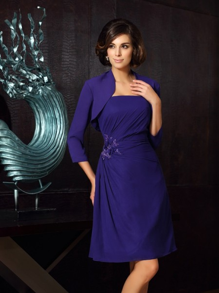 A-Line Sweetheart Knee-Length Chiffon Mother of the Bride Dress