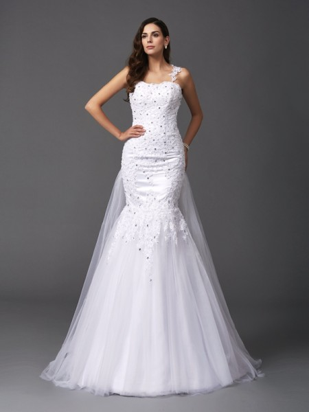 Ball Gown Off-the-Shoulder Long Sleeves Lace Floor-Length Net Bridal Dresss