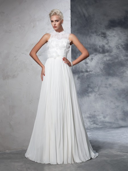 Princess Sweetheart Beading Sweep/Brush Train Satin Wedding Gown