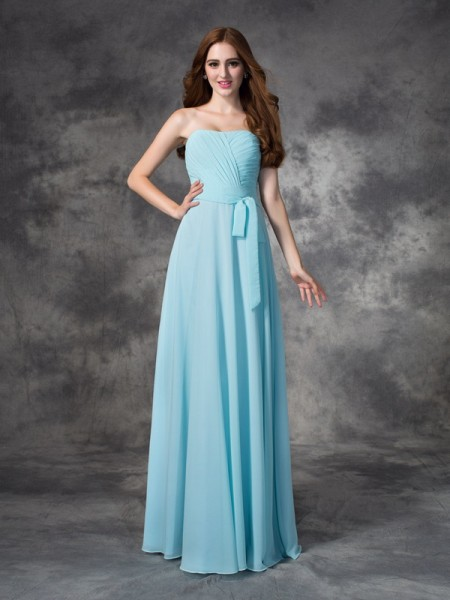 Trumpet Sweetheart Ruched Sweep/Brush Train Chiffon Bridesmaid Gown