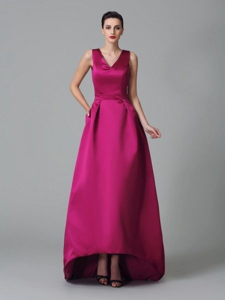 Princess Straps Sash/Ribbon/Belt Floor-Length Chiffon Bridesmaid Gown