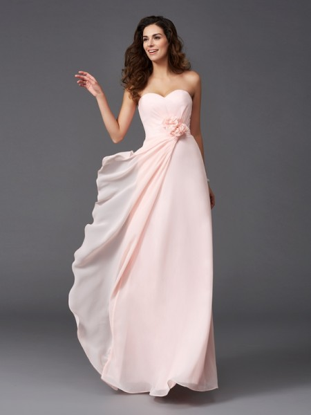 Princess Off-the-Shoulder Asymmetrical Satin Bridesmaid Gown