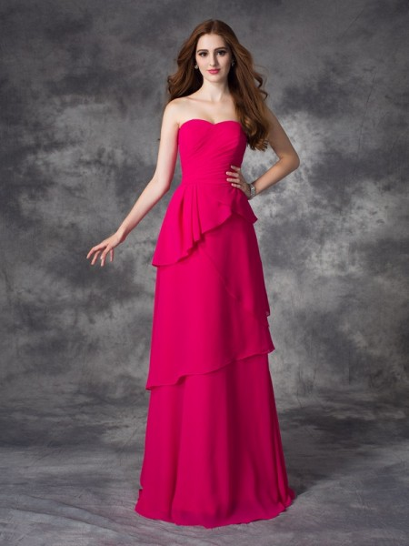 Princess V-neck Ruched Short Satin Bridesmaid Dress