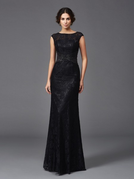 Sheath/Column Scoop Beading Lace Mother of the Bride Dress