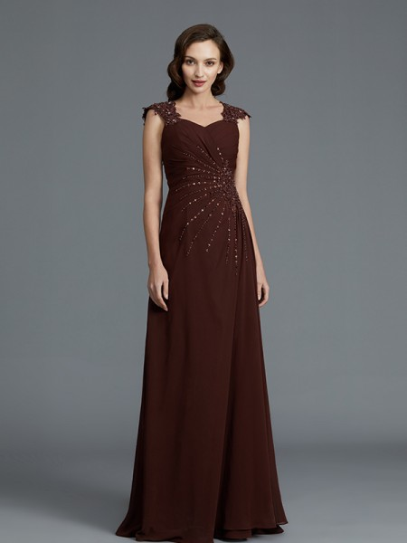 A-Line/Princess Sweetheart Chiffon Floor-Length Mother of the Bride Dress