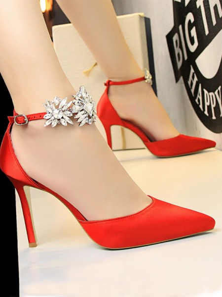 Patent Leather Stiletto Heel Closed Toe High Heels