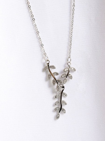 Graceful 925 Sterling Silver Ladies's Necklacess