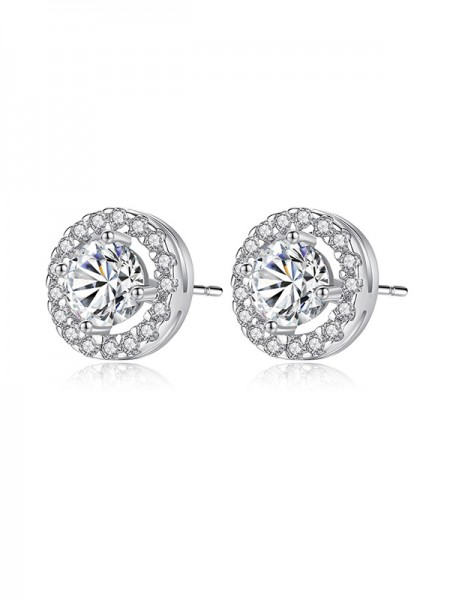 Elegant Zircon With Cubic Zirconia Earrings