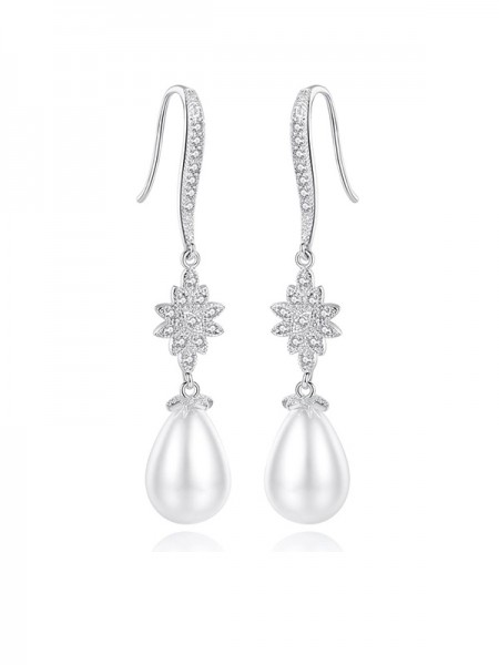 Fancy Imitation Pearls Earrings