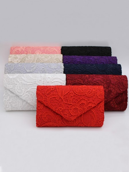 Pretty Lace Party Handbags With Flowers