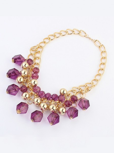 Occident Bohemia Dimensional geometry Necklace