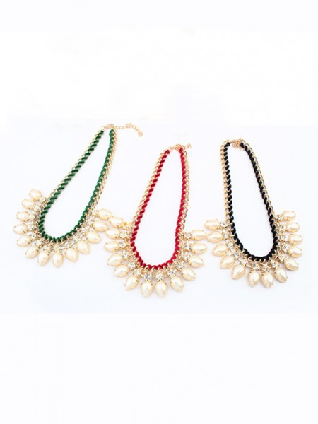 Occident Stylish Exquisite Pearls Water drop Necklace