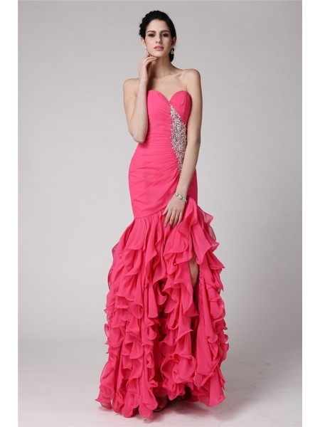 Trumpet/Mermaid Sweetheart Ruffles Chiffon Dress